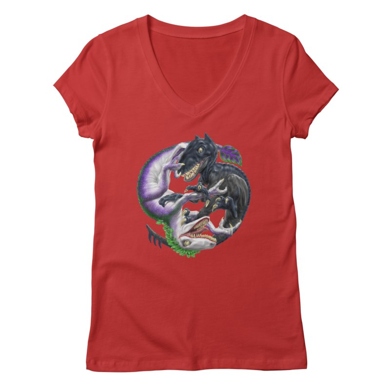 Darklaw vs the Laughing Lizard Women's Regular V-Neck by Ayota Illustration Shop