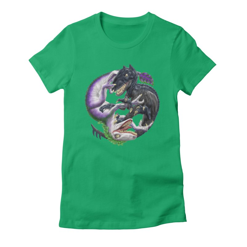 Darklaw vs the Laughing Lizard Women's T-Shirt by Ayota Illustration Shop