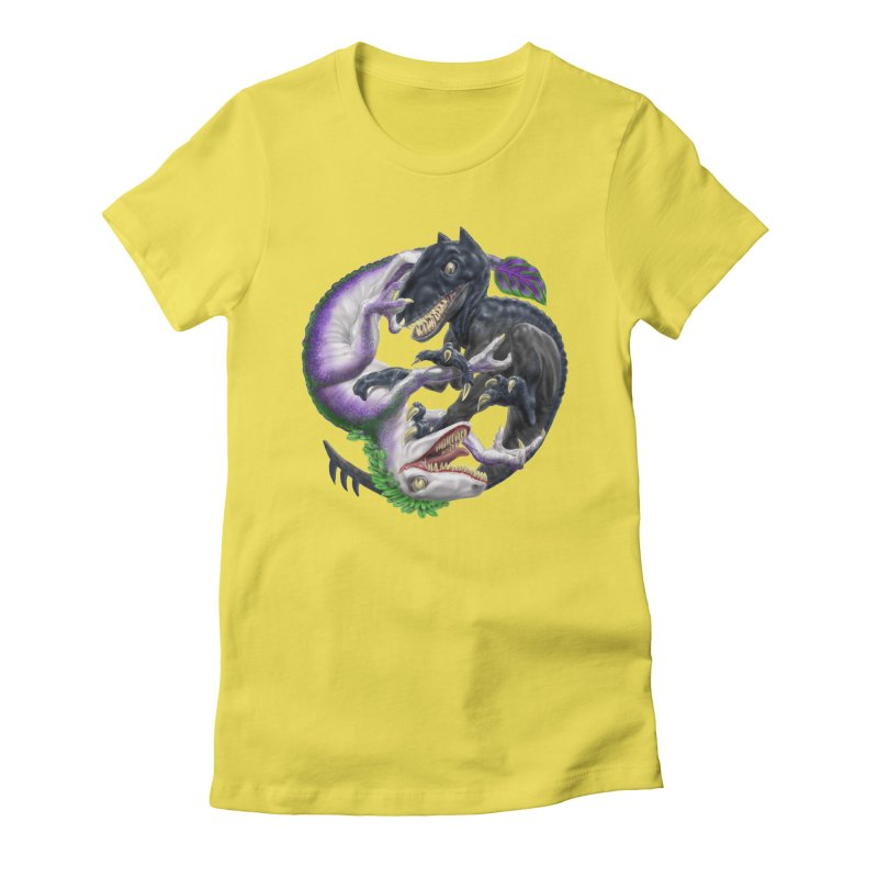 Darklaw vs the Laughing Lizard Women's Fitted T-Shirt by Ayota Illustration Shop
