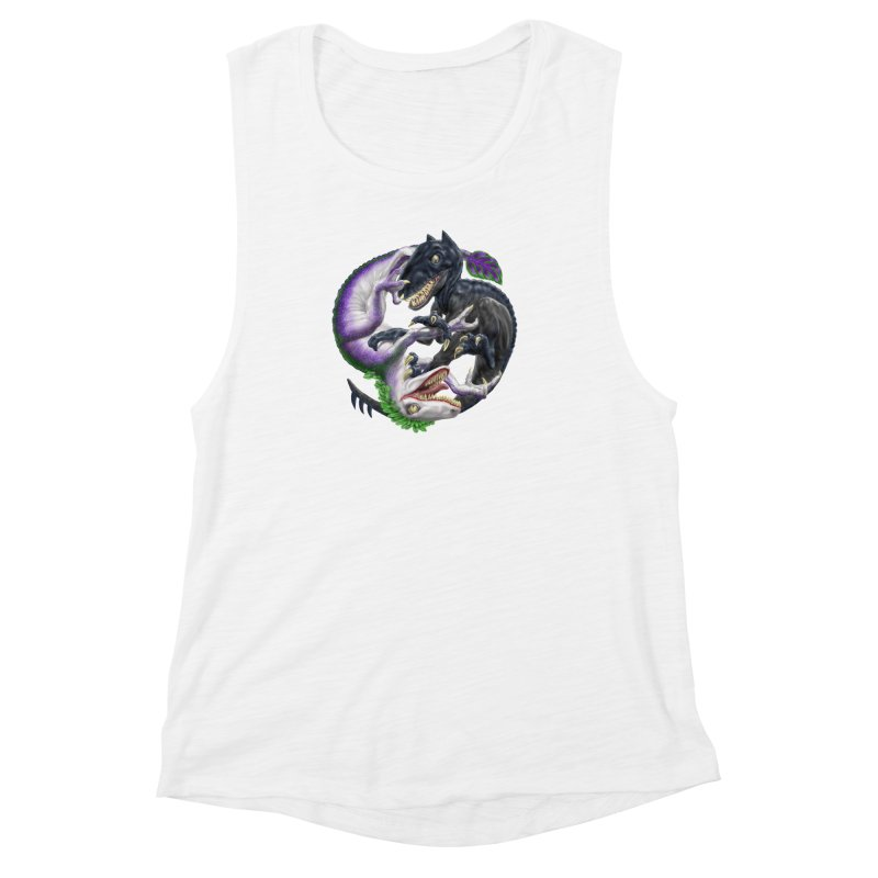 Darklaw vs the Laughing Lizard Women's Muscle Tank by Ayota Illustration Shop