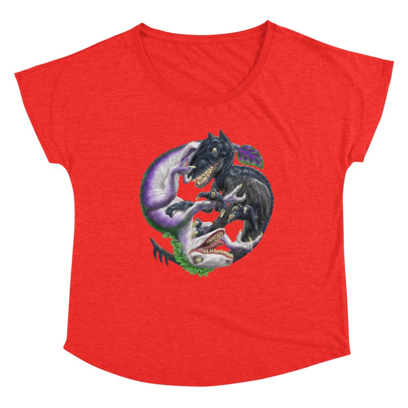 Darklaw vs the Laughing Lizard Women's Scoop Neck by Ayota Illustration Shop