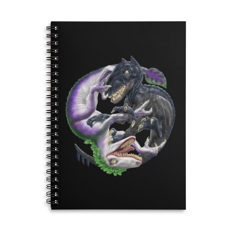 Darklaw vs the Laughing Lizard Accessories Lined Spiral Notebook by Ayota Illustration Shop