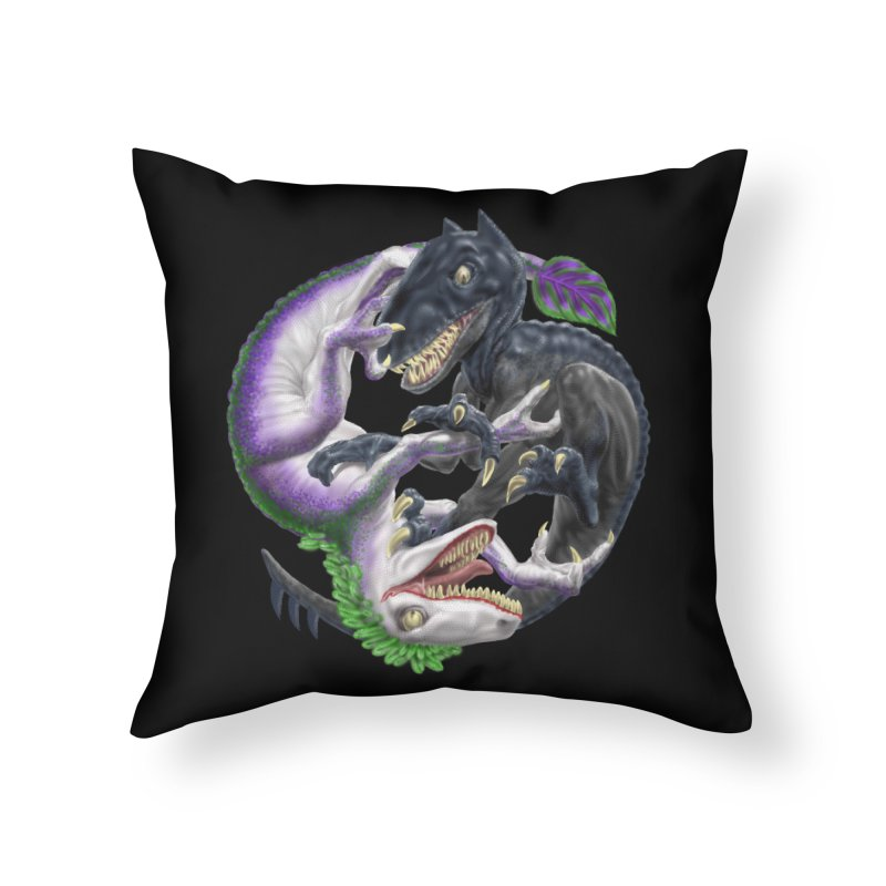 Darklaw vs the Laughing Lizard Home Throw Pillow by Ayota Illustration Shop