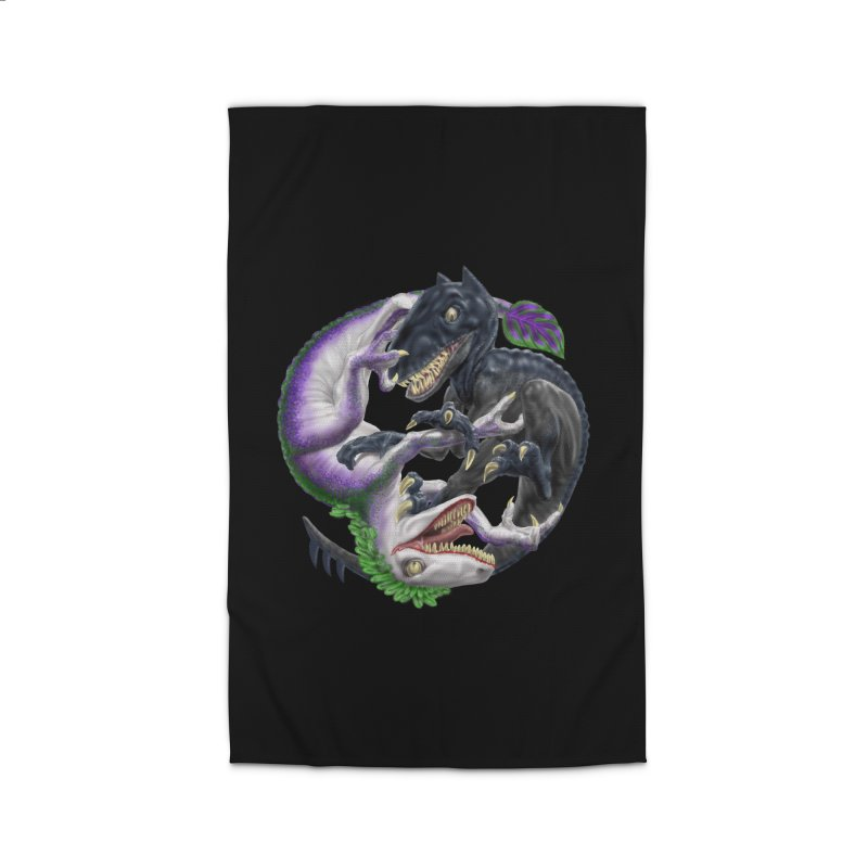 Darklaw vs the Laughing Lizard Home Rug by Ayota Illustration Shop