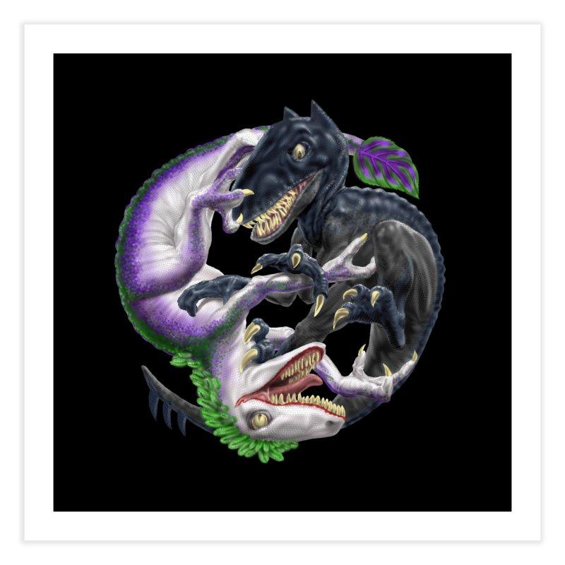 Darklaw vs the Laughing Lizard Home Fine Art Print by Ayota Illustration Shop