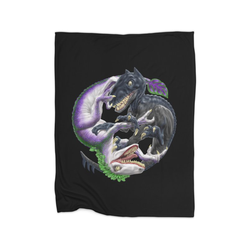 Darklaw vs the Laughing Lizard Home Blanket by Ayota Illustration Shop