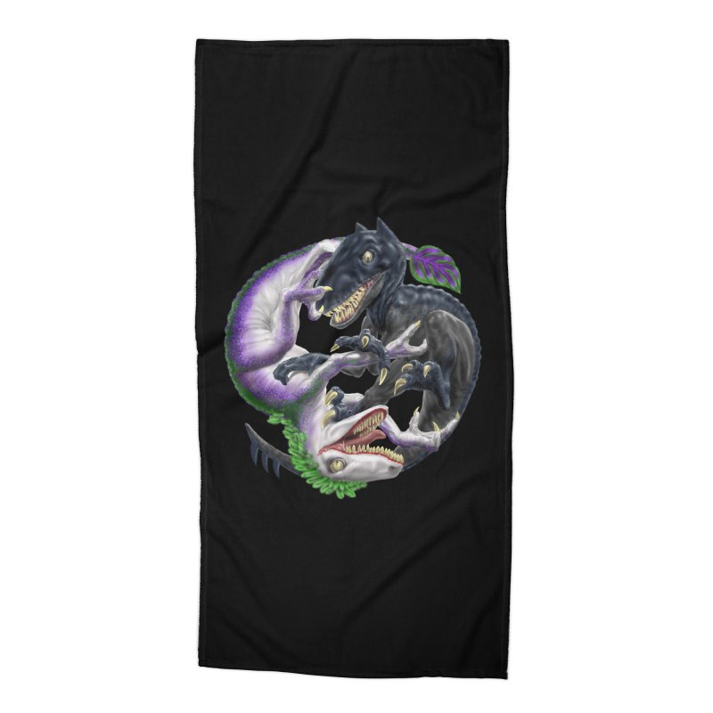Darklaw vs the Laughing Lizard Accessories Beach Towel by Ayota Illustration Shop