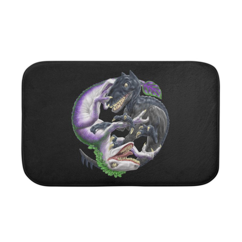 Darklaw vs the Laughing Lizard Home Bath Mat by Ayota Illustration Shop