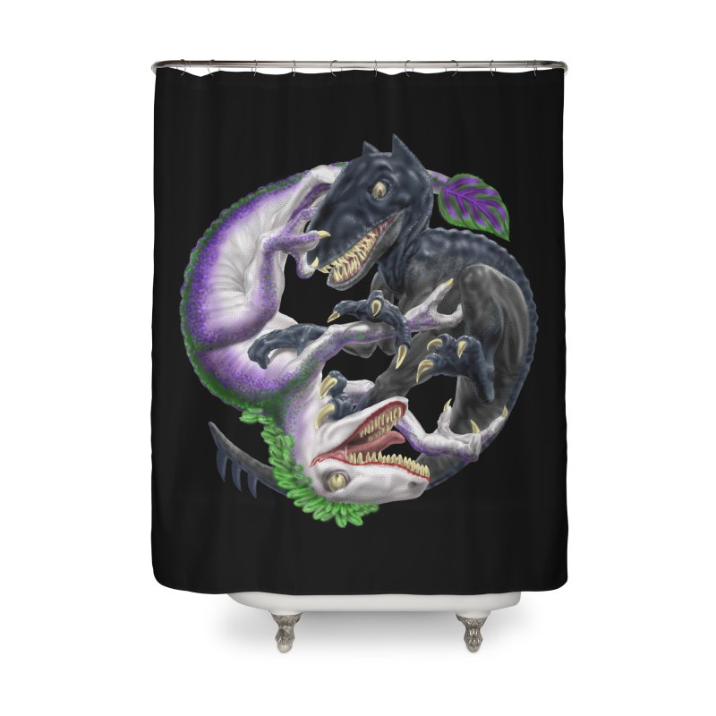 Darklaw vs the Laughing Lizard Home Shower Curtain by Ayota Illustration Shop