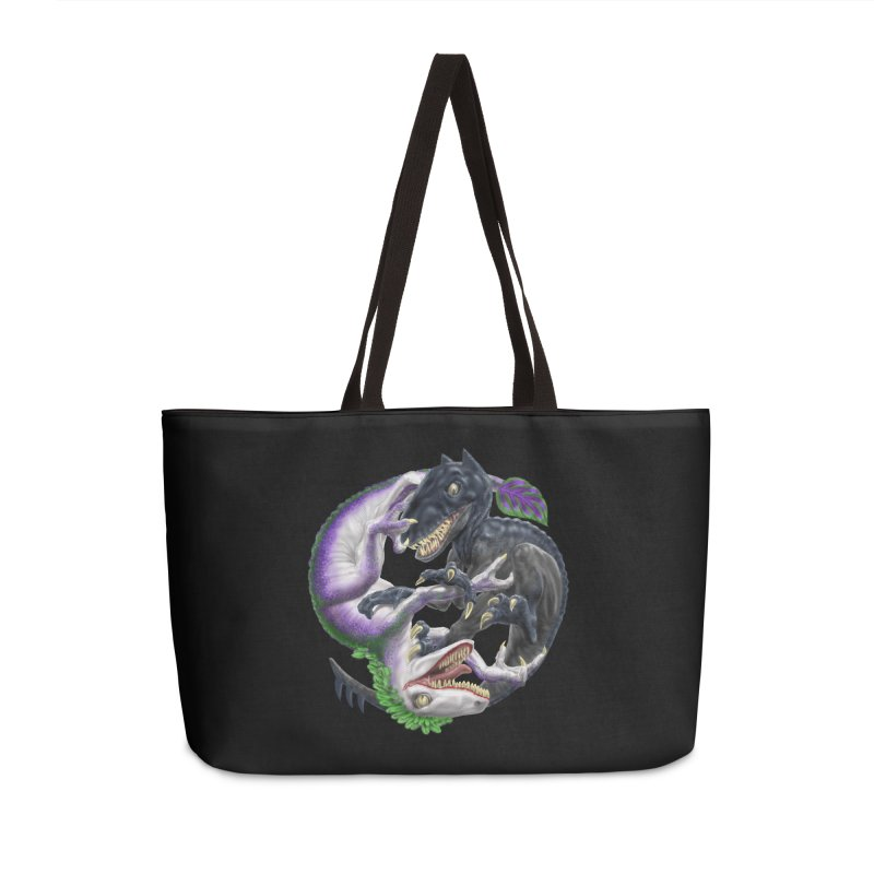 Darklaw vs the Laughing Lizard Accessories Weekender Bag Bag by Ayota Illustration Shop
