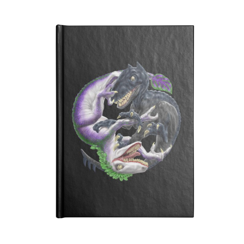 Darklaw vs the Laughing Lizard Accessories Lined Journal Notebook by Ayota Illustration Shop