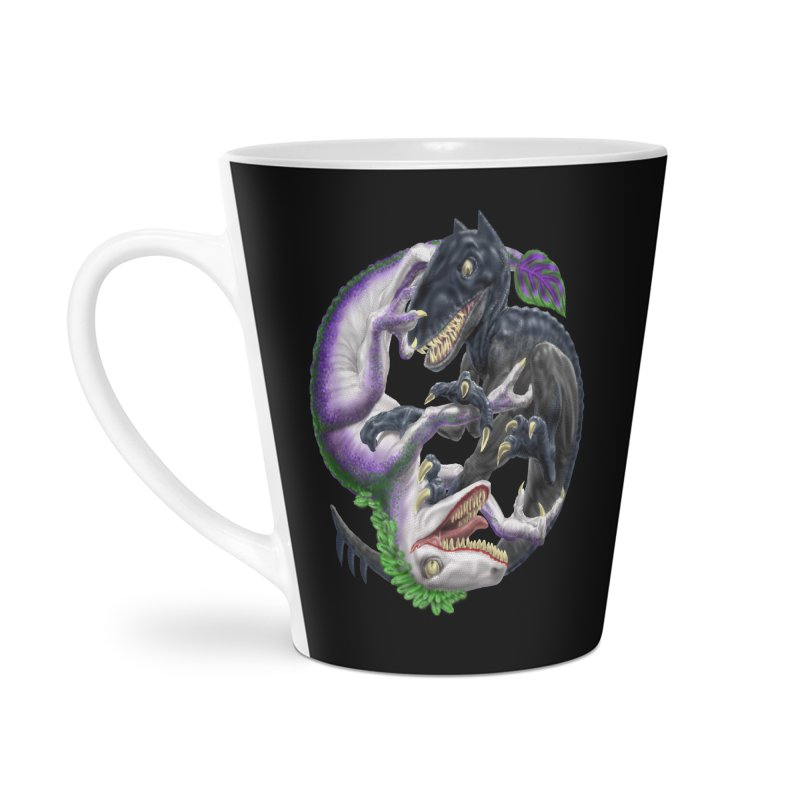 Darklaw vs the Laughing Lizard Accessories Latte Mug by Ayota Illustration Shop