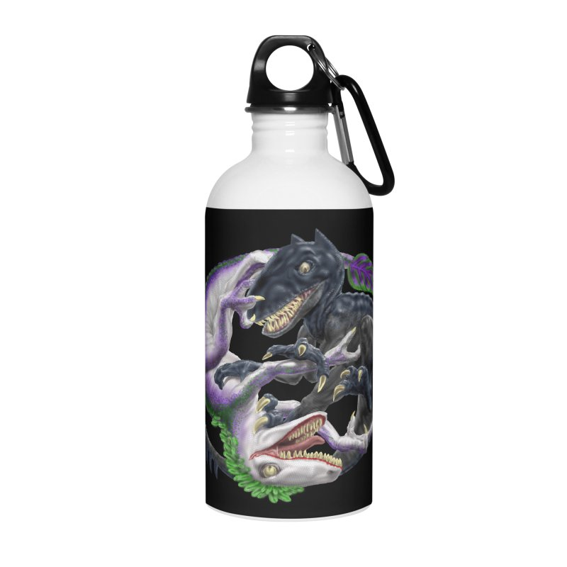 Darklaw vs the Laughing Lizard Accessories Water Bottle by Ayota Illustration Shop