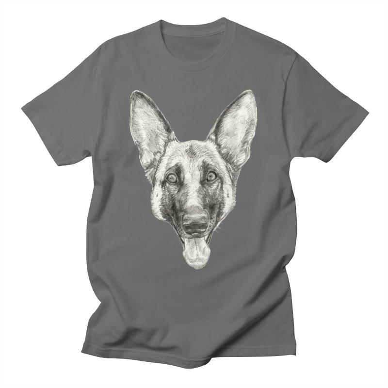 Cleo, the German Shepherd Men's T-Shirt by Ayota Illustration Shop