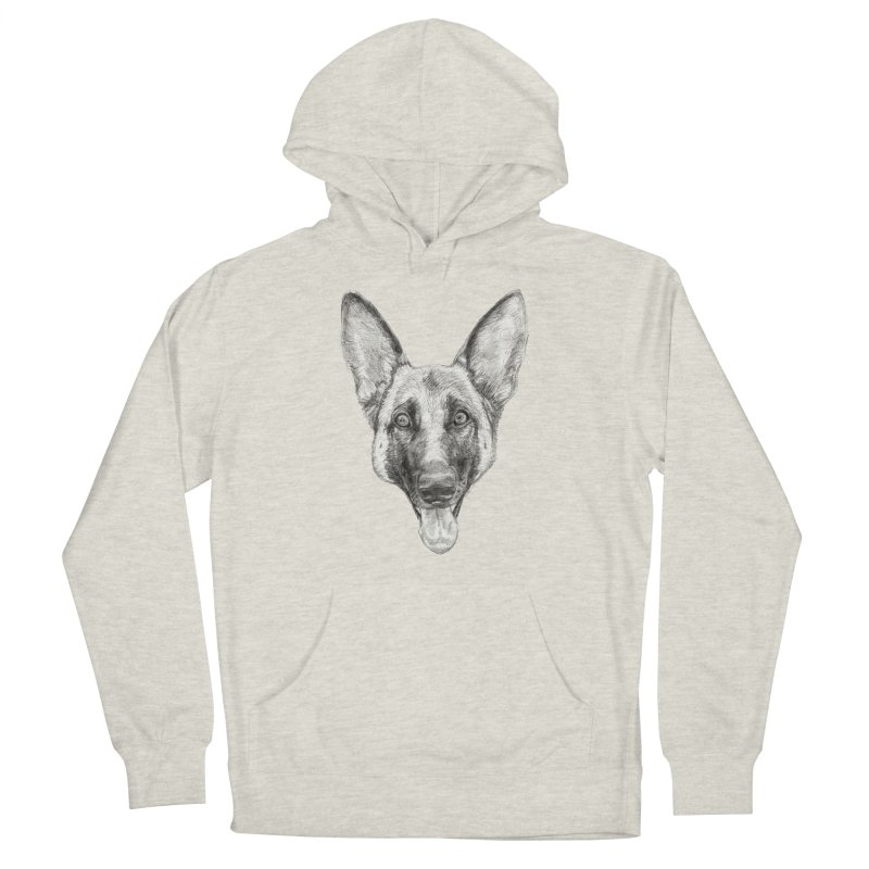 Cleo, the German Shepherd Men's Pullover Hoody by Ayota Illustration Shop