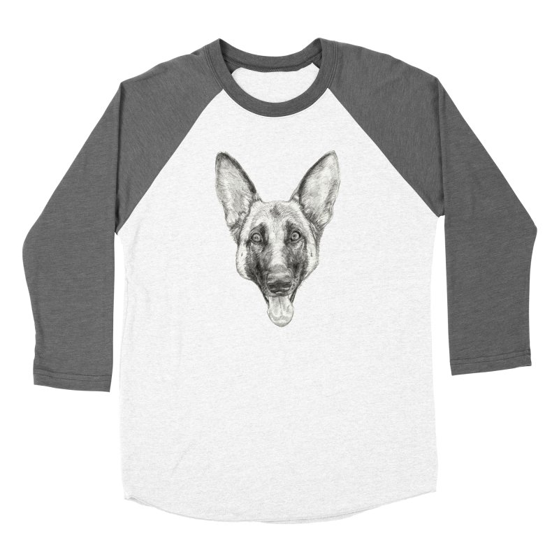 Cleo, the German Shepherd Women's Longsleeve T-Shirt by Ayota Illustration Shop