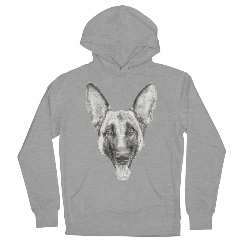Cleo, the German Shepherd Women's Pullover Hoody by Ayota Illustration Shop