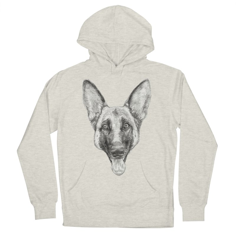 Cleo, the German Shepherd Women's French Terry Pullover Hoody by Ayota Illustration Shop