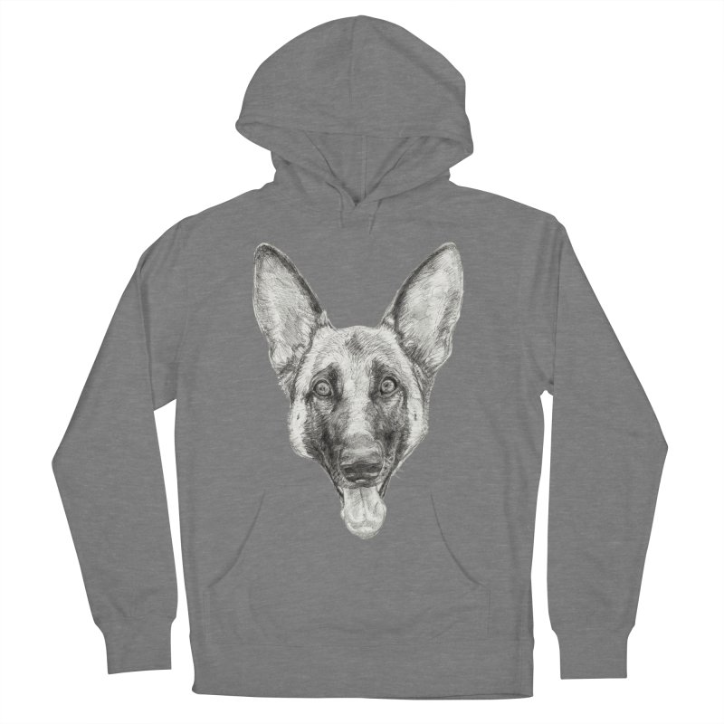 Cleo, the German Shepherd Men's French Terry Pullover Hoody by Ayota Illustration Shop
