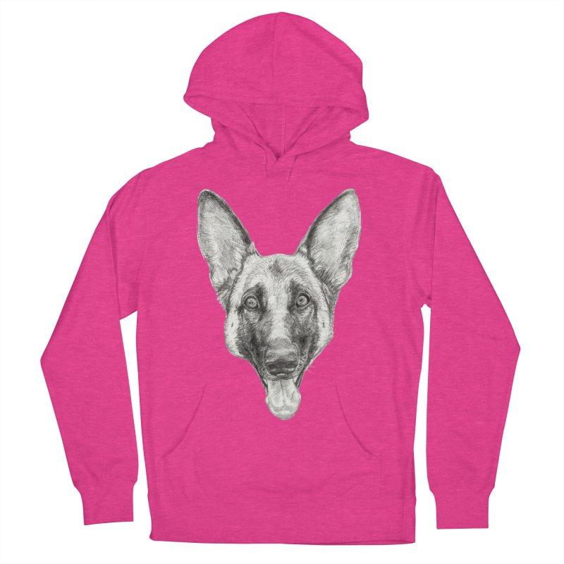 Cleo, the German Shepherd Men's Pullover Hoody by Ayota Illustration Shop