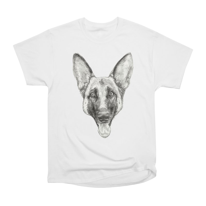 Cleo, the German Shepherd Men's Heavyweight T-Shirt by Ayota Illustration Shop