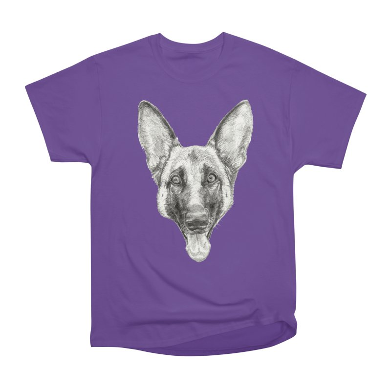 Cleo, the German Shepherd Men's Heavyweight T-Shirt by Ayota Illustration Shop