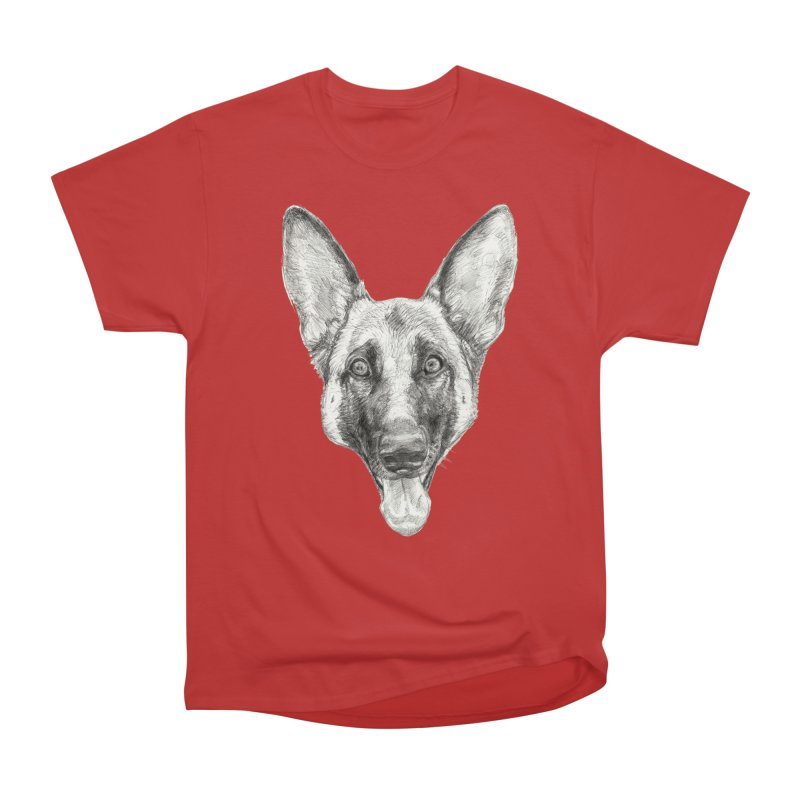 Cleo, the German Shepherd Women's Heavyweight Unisex T-Shirt by Ayota Illustration Shop