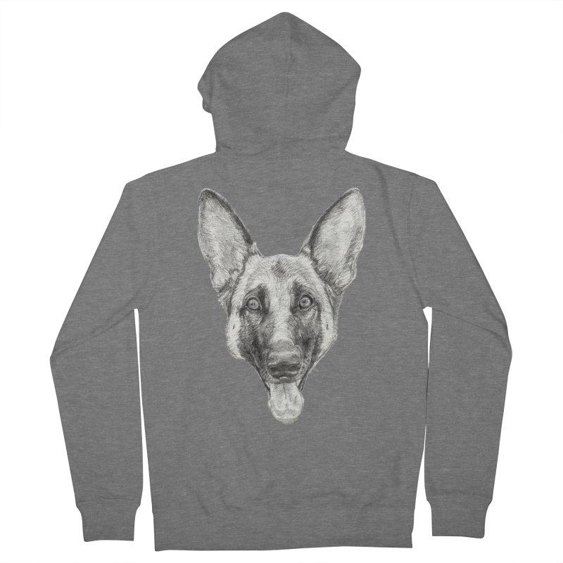 Cleo, the German Shepherd Women's Zip-Up Hoody by Ayota Illustration Shop