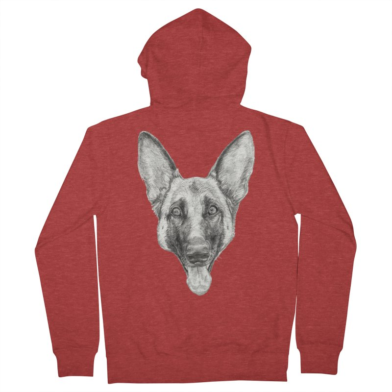 Cleo, the German Shepherd Women's Zip-Up Hoody by Ayota Illustration Shop