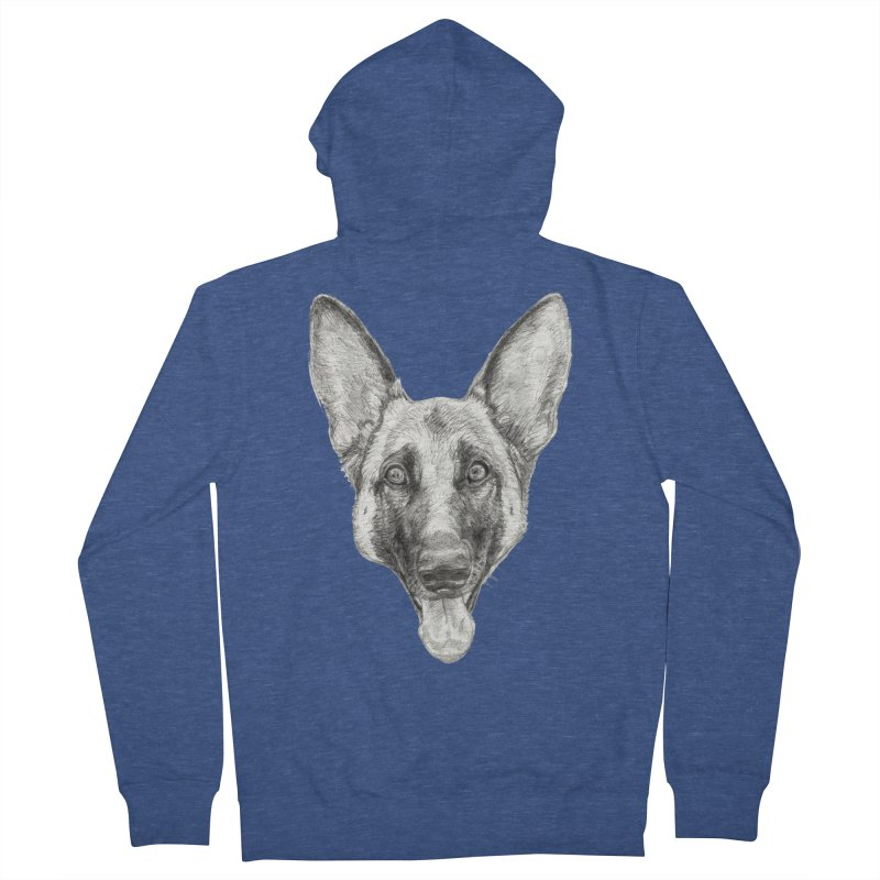 Cleo, the German Shepherd Men's Zip-Up Hoody by Ayota Illustration Shop