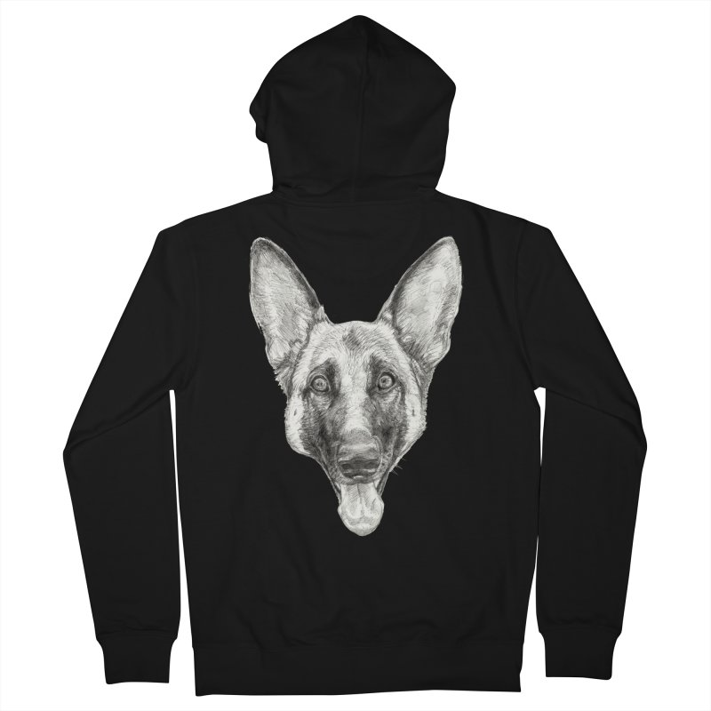 Cleo, the German Shepherd Men's Zip-Up Hoody by Ayota Illustration Shop