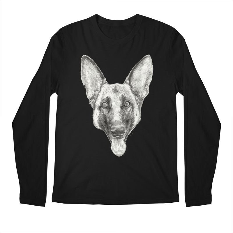 Cleo, the German Shepherd Men's Regular Longsleeve T-Shirt by Ayota Illustration Shop
