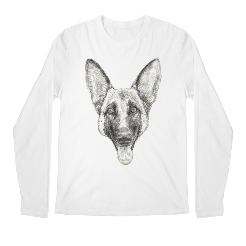 Cleo, the German Shepherd Men's Longsleeve T-Shirt by Ayota Illustration Shop