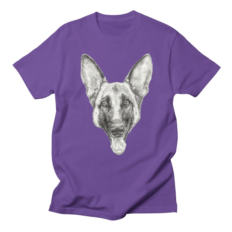 Cleo, the German Shepherd Men's Regular T-Shirt by Ayota Illustration Shop