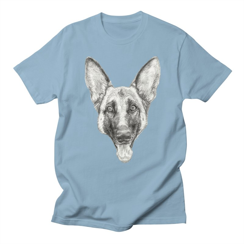 Cleo, the German Shepherd Men's T-Shirt by Ayota Illustration Shop