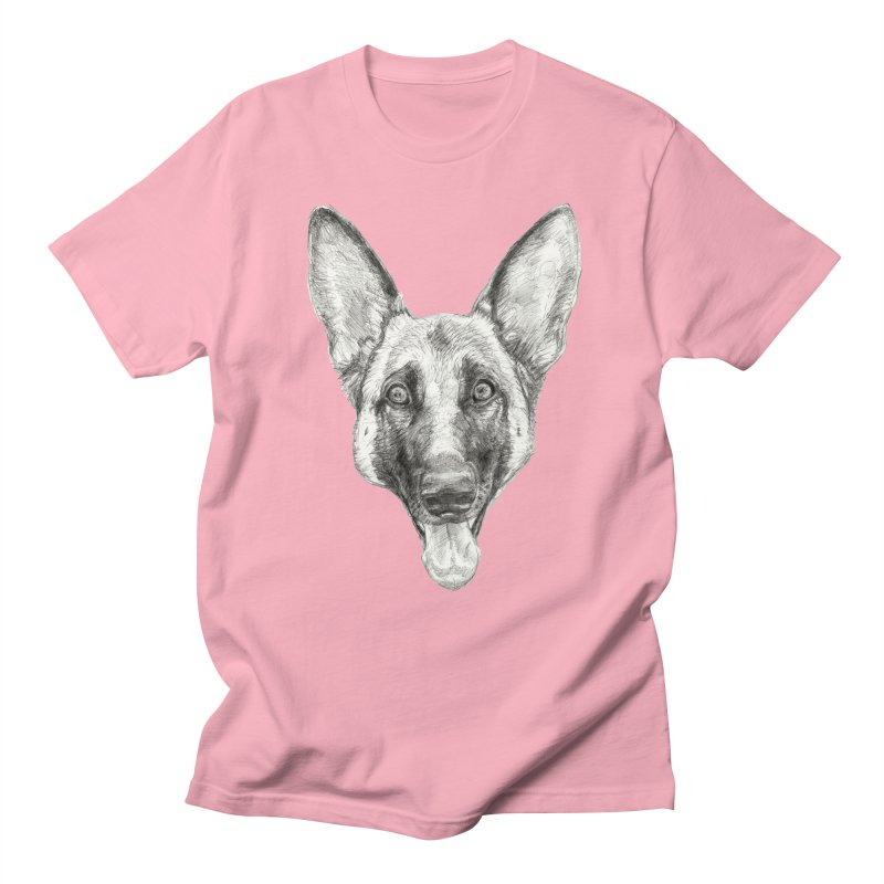 Cleo, the German Shepherd Women's Regular Unisex T-Shirt by Ayota Illustration Shop
