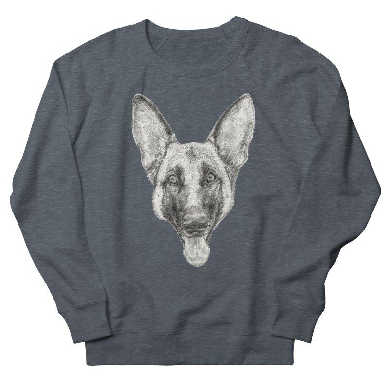 Cleo, the German Shepherd Women's French Terry Sweatshirt by Ayota Illustration Shop