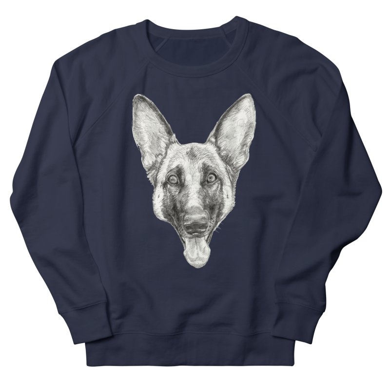 Cleo, the German Shepherd Women's French Terry Sweatshirt by Ayota Illustration Shop