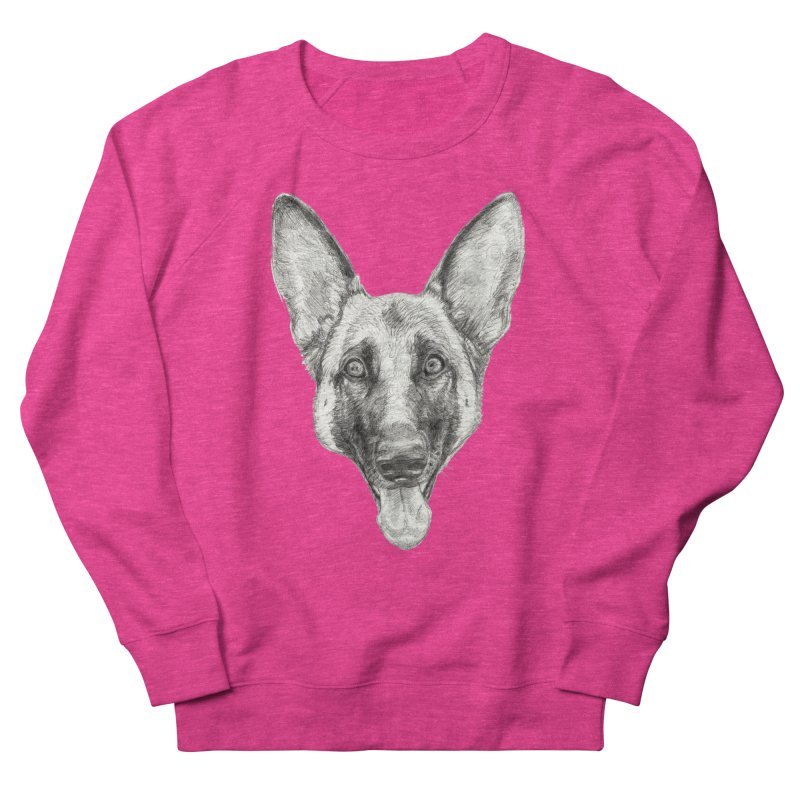 Cleo, the German Shepherd Men's French Terry Sweatshirt by Ayota Illustration Shop