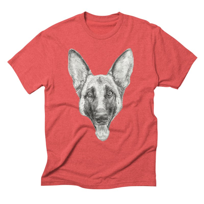Cleo, the German Shepherd Men's Triblend T-Shirt by Ayota Illustration Shop