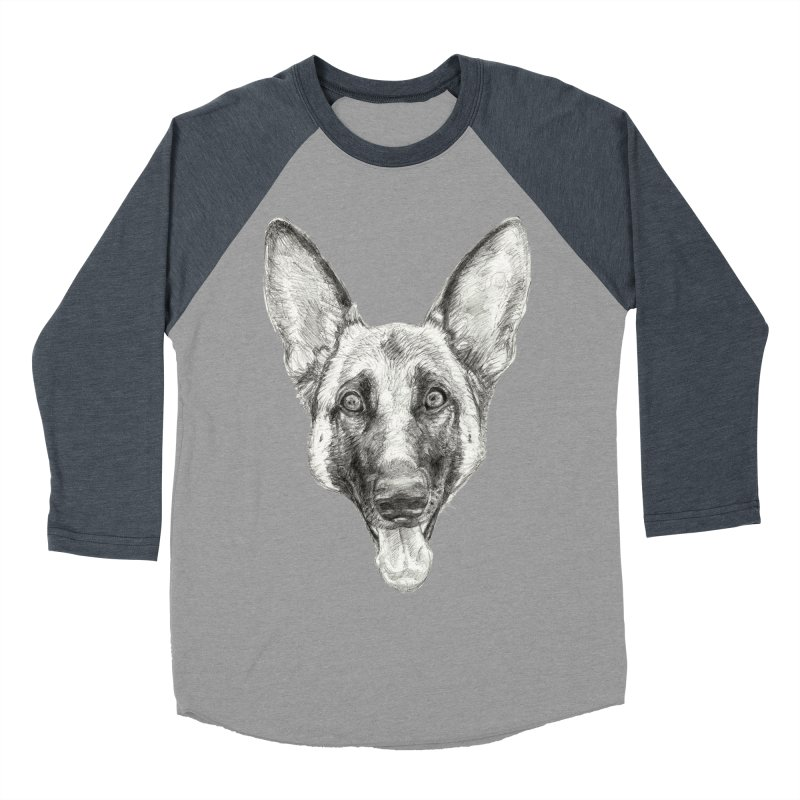 Cleo, the German Shepherd Men's Baseball Triblend Longsleeve T-Shirt by Ayota Illustration Shop