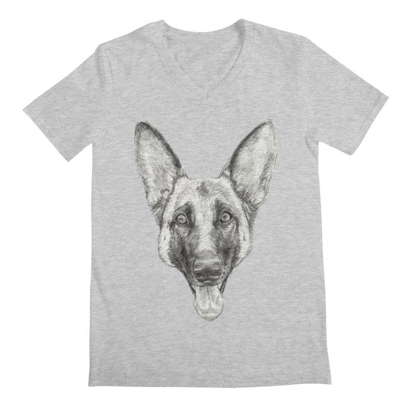 Cleo, the German Shepherd Men's V-Neck by Ayota Illustration Shop