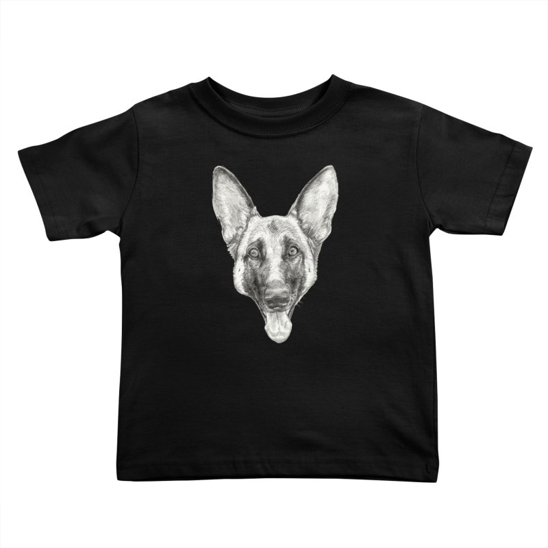 Cleo, the German Shepherd Kids Toddler T-Shirt by Ayota Illustration Shop