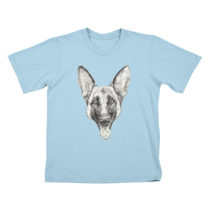 Cleo, the German Shepherd Kids T-Shirt by Ayota Illustration Shop