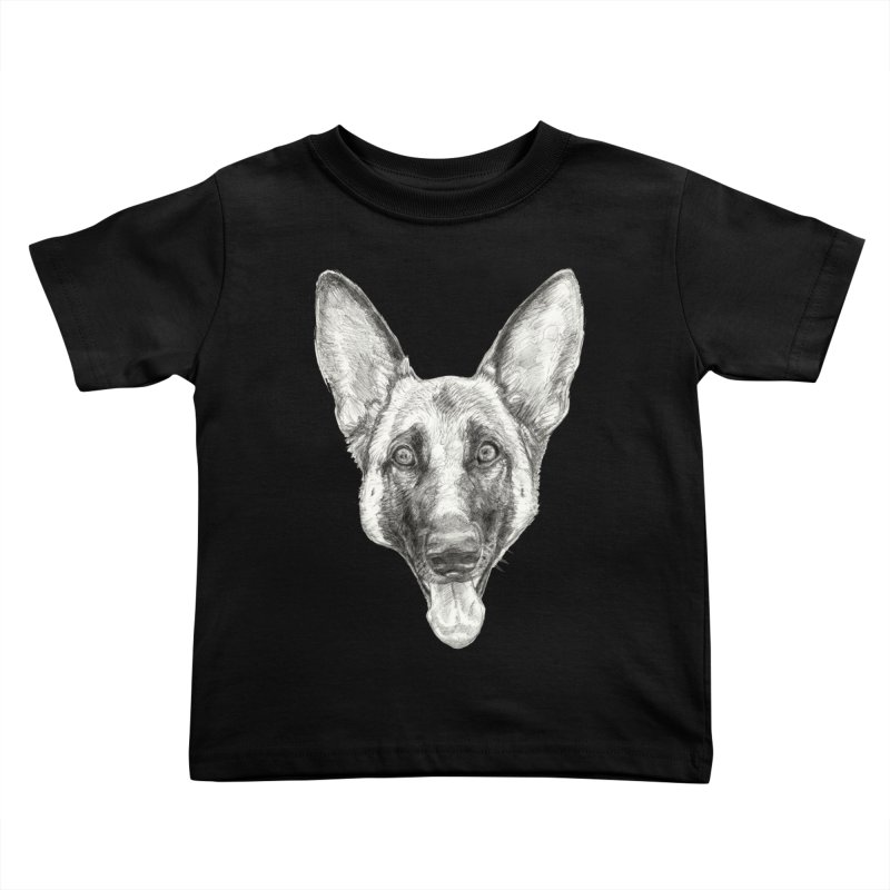 Cleo, the German Shepherd Kids Toddler T-Shirt by Ayota Illustration Shop