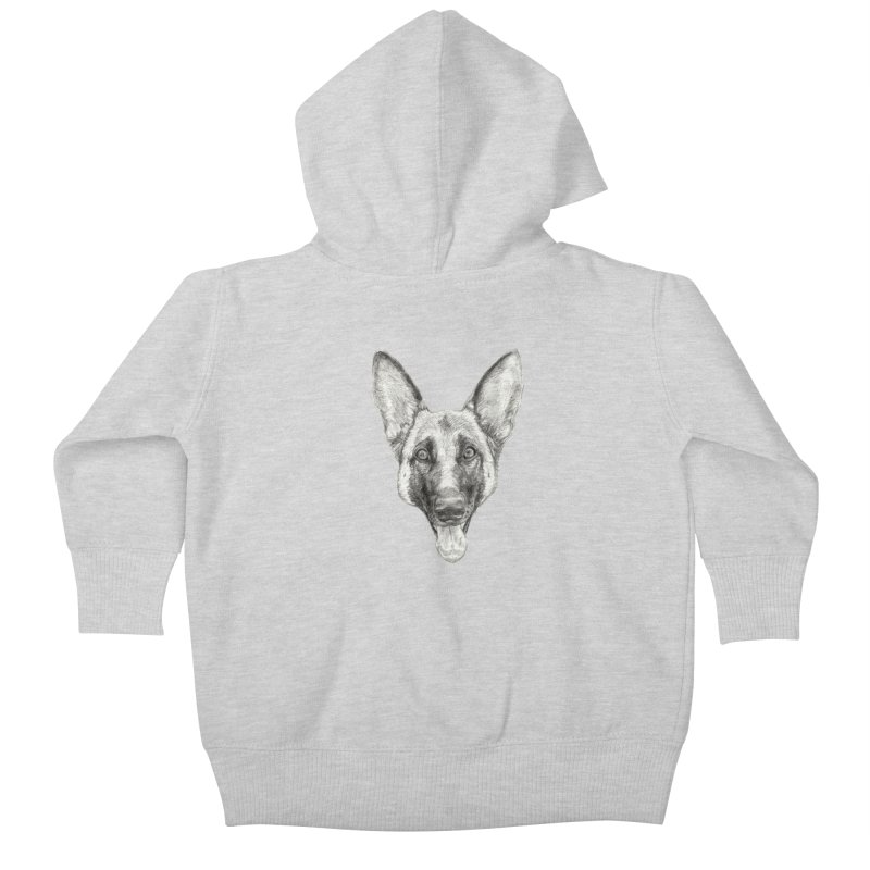 Cleo, the German Shepherd Kids Baby Zip-Up Hoody by Ayota Illustration Shop