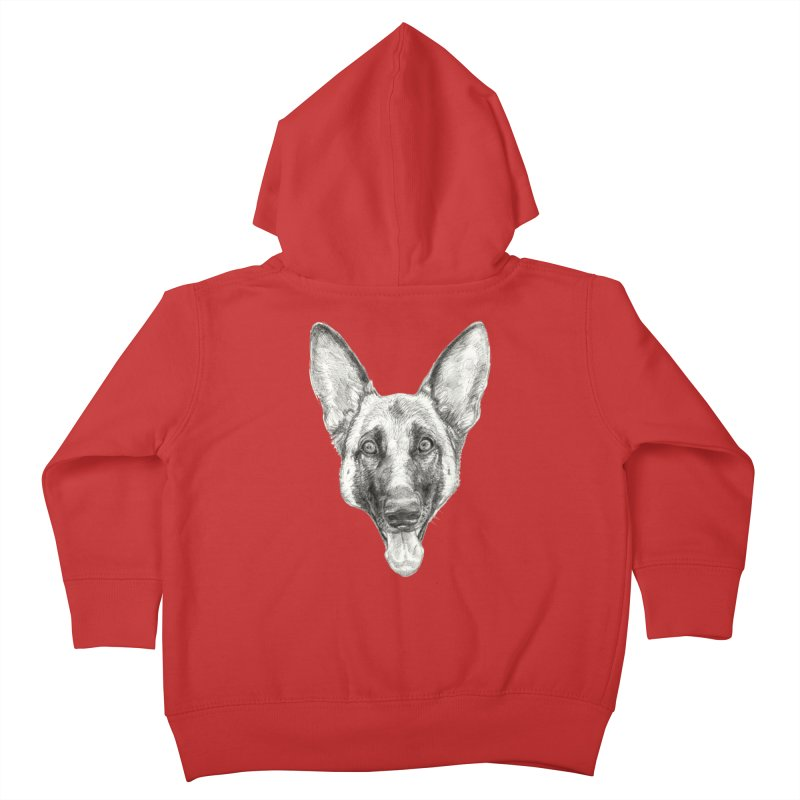 Cleo, the German Shepherd Kids Toddler Zip-Up Hoody by Ayota Illustration Shop