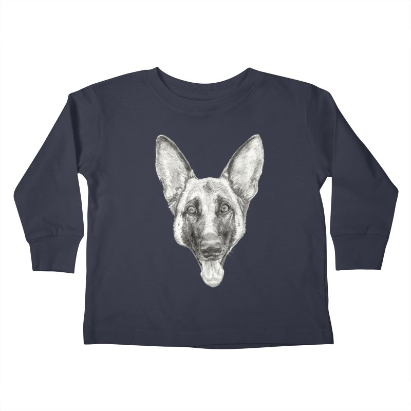 Cleo, the German Shepherd Kids Toddler Longsleeve T-Shirt by Ayota Illustration Shop