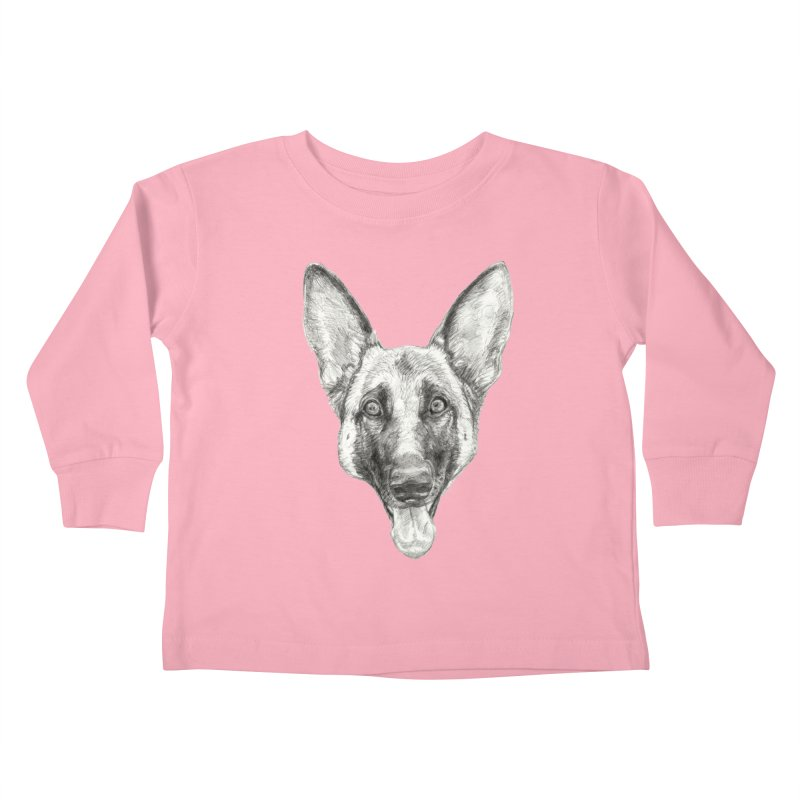 Cleo, the German Shepherd Kids Toddler Longsleeve T-Shirt by Ayota Illustration Shop