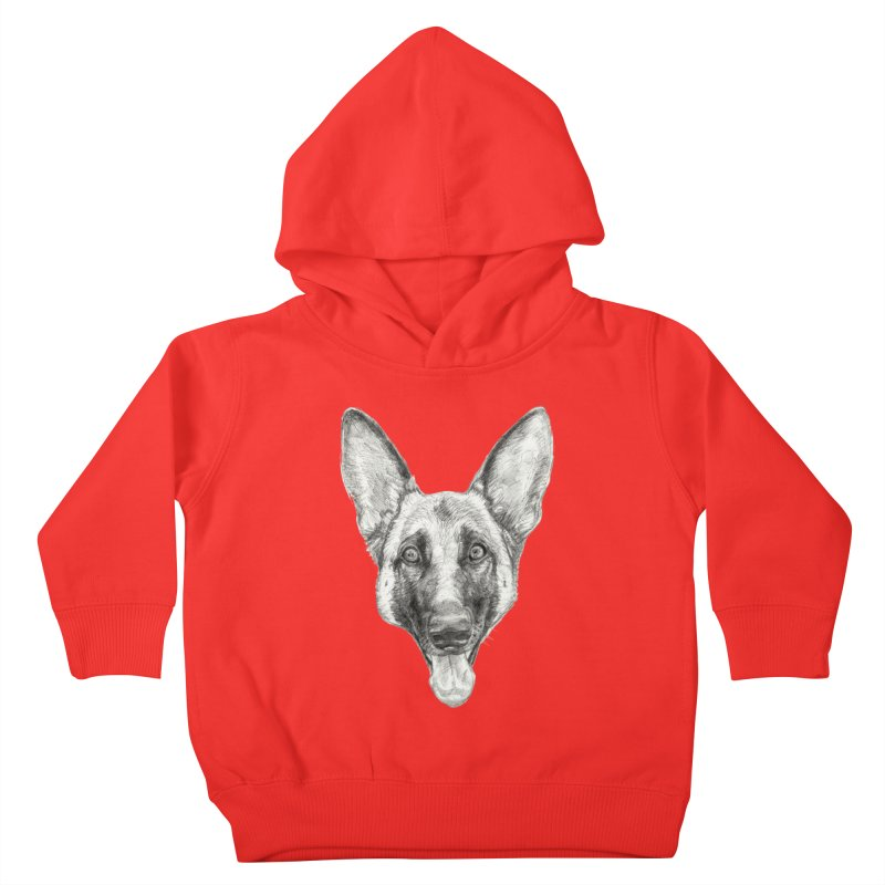 Cleo, the German Shepherd Kids Toddler Pullover Hoody by Ayota Illustration Shop